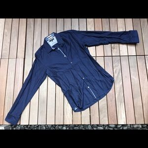 TED BALER Blue Dress Shirt